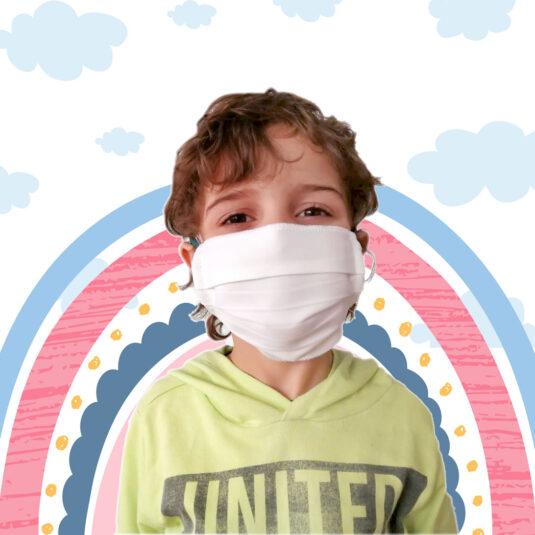 Mascarillas higiénicas infantiles Doble Capa - Pack de 5 unidades